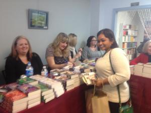 Getting books signed by Kristen Proby and Teri Wilson